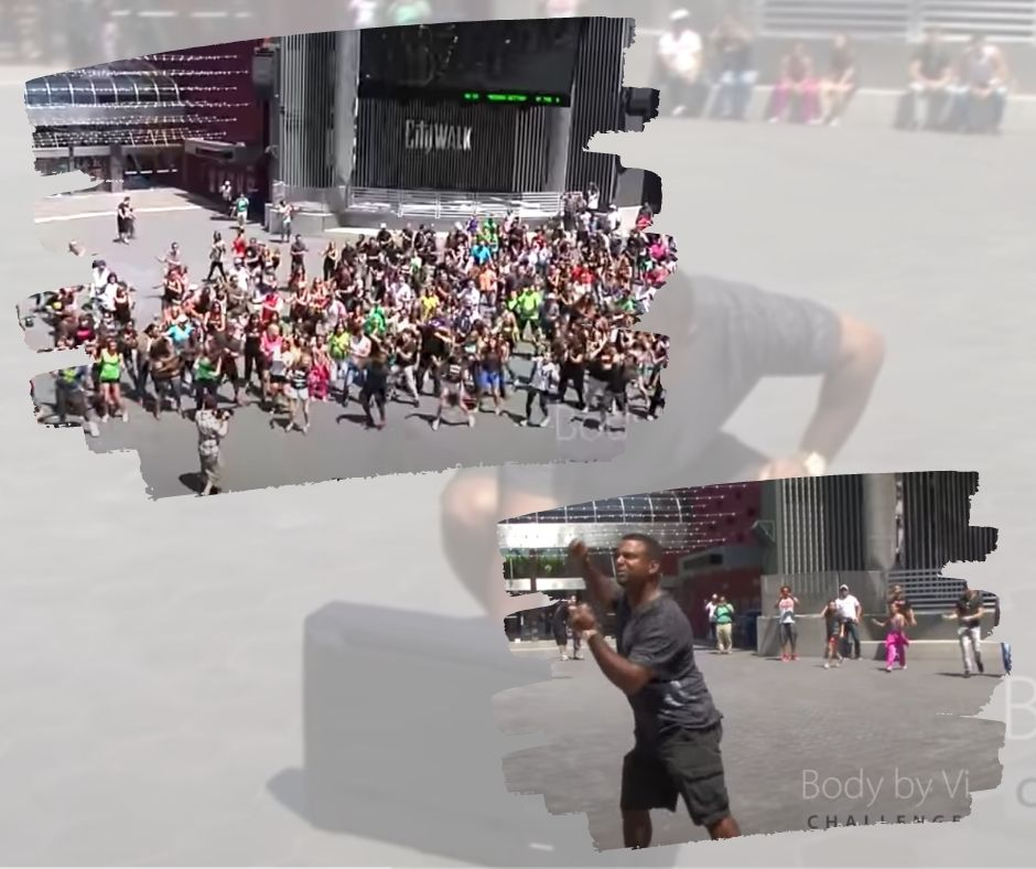 Giving happiness with a flash mob dance